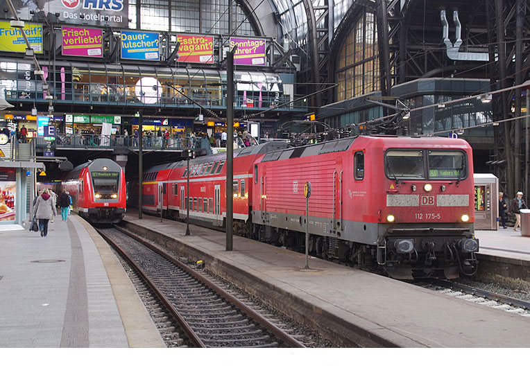 DB Baureihe 112 in Hamburg Hbf