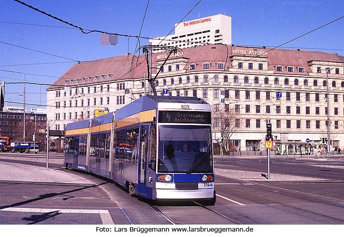 Die Straßenbahn In Leipzig Fotos Von Einem Umweltfreundlichen